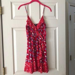 Express Floral Ruffle Cami Dress
